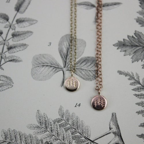 Image of *NEW* Wilderness' little gold disc necklace