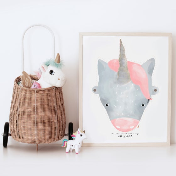 Image of ART PRINT | UNICORN MASK