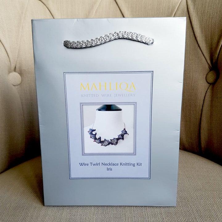 Image of Wire Twirl Necklace Knitting Kit - Iris