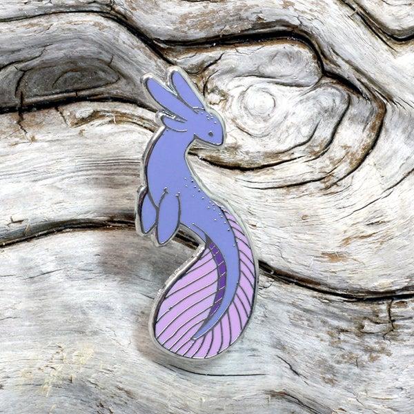 Image of Enamel Pin: Purple Lake Monster