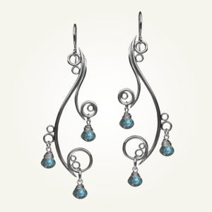 Image of Greek Isle Earrings with Labradorite, Sterling Silver