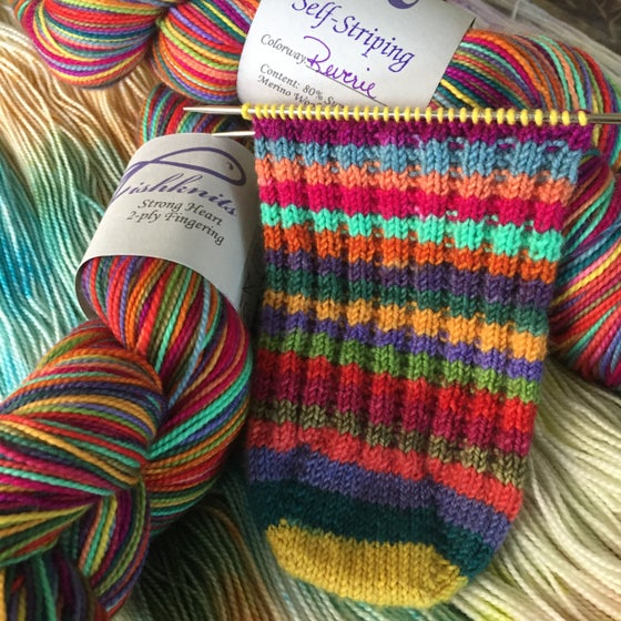 Image of Oops, a broken skein! Reverie on Strong Heart