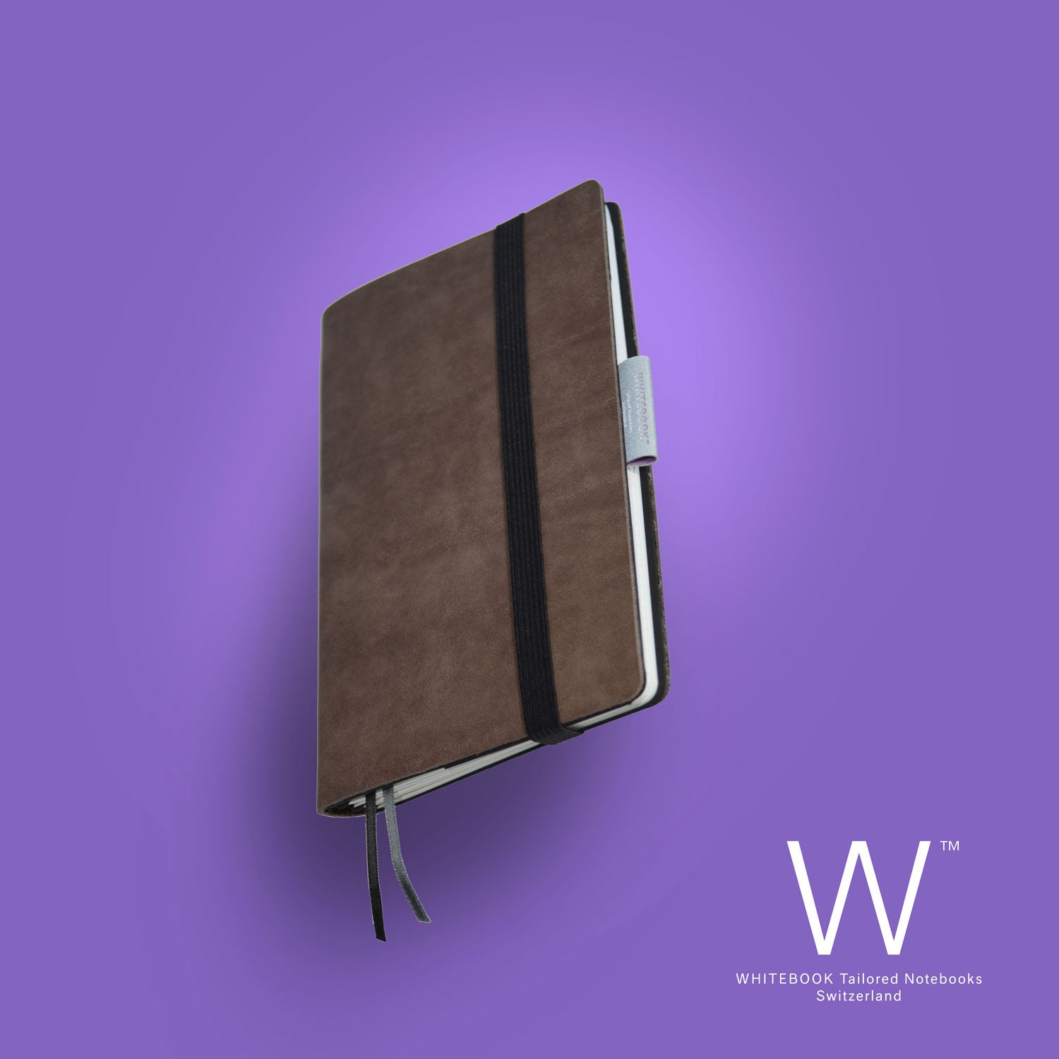 Image of Whitebook Mobile, S205, soft french calf leather, brown antique