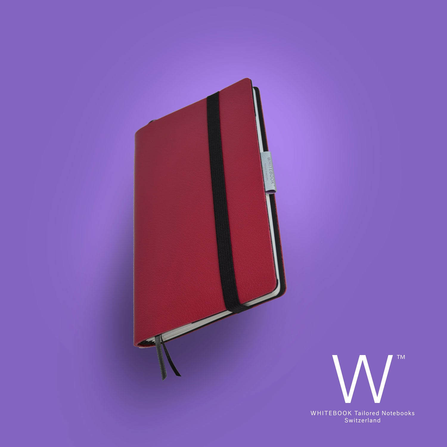 Image of Whitebook Mobile, S213, soft french calf leather, Togo Rubis