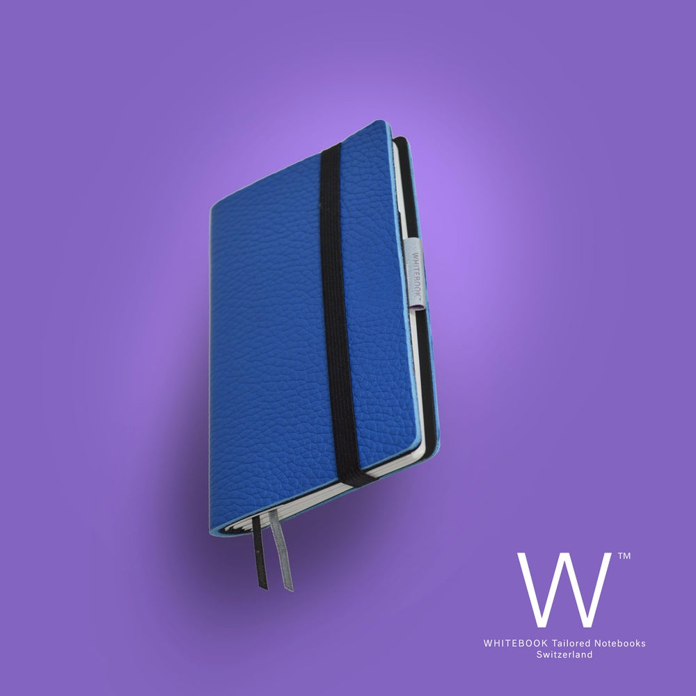 Image of Whitebook Mobile, S296, thick french calf leather, LV bleu