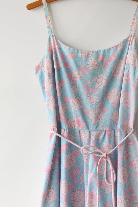 Image of SOLD Pink Flowers Sundress
