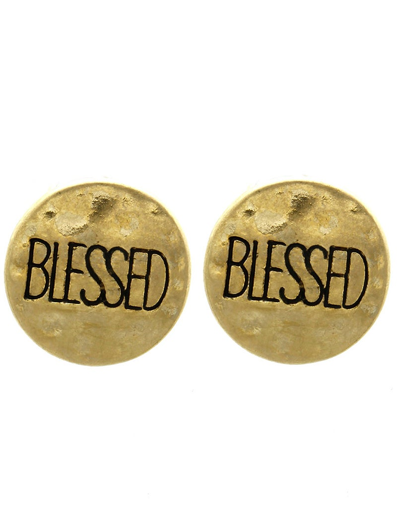 Image of Blessed/Faith/Hope Message Earrings