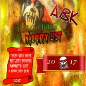 Image of ABK - 2017 HOLIDAY JINGLE - NAUGHTY LIST CD