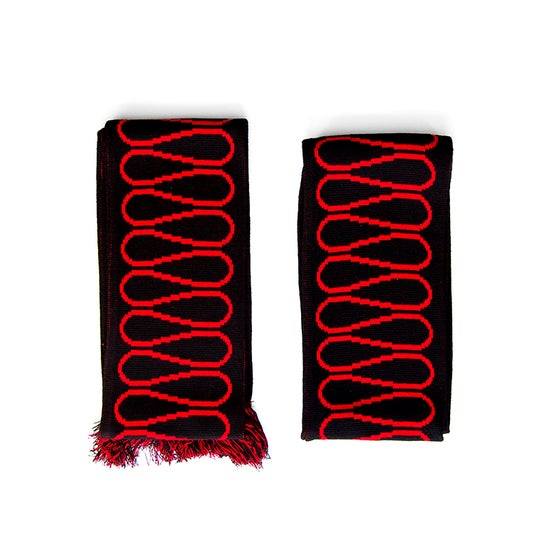 Image of Insulation Scarf: Red on Black (Autocad edition AW 17) Extra length 167cm x 17cm