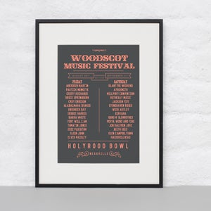 Image of Woodscot Music Festival Poster Print