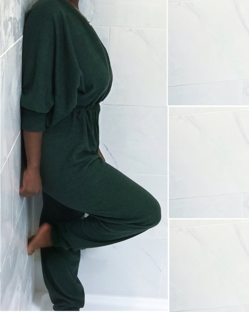 Image of Fleece Sweatsuit Style Jumper
