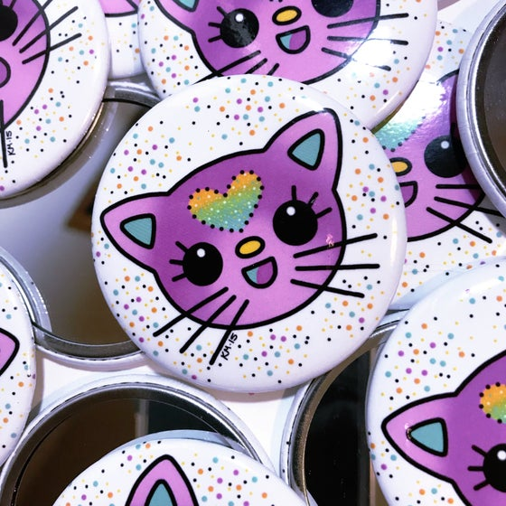 Image of 'Luvly Kitty' Pocket Mirror