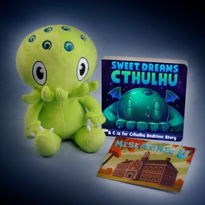 """Image of C is for Cthulhu: SIGNED Green Cthulhu plush and """"Sweet Dreams Cthulhu"""" set!"""