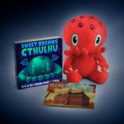 "Image of C is for Cthulhu: SIGNED Red Cthulhu plush and ""Sweet Dreams Cthulhu"" set!"