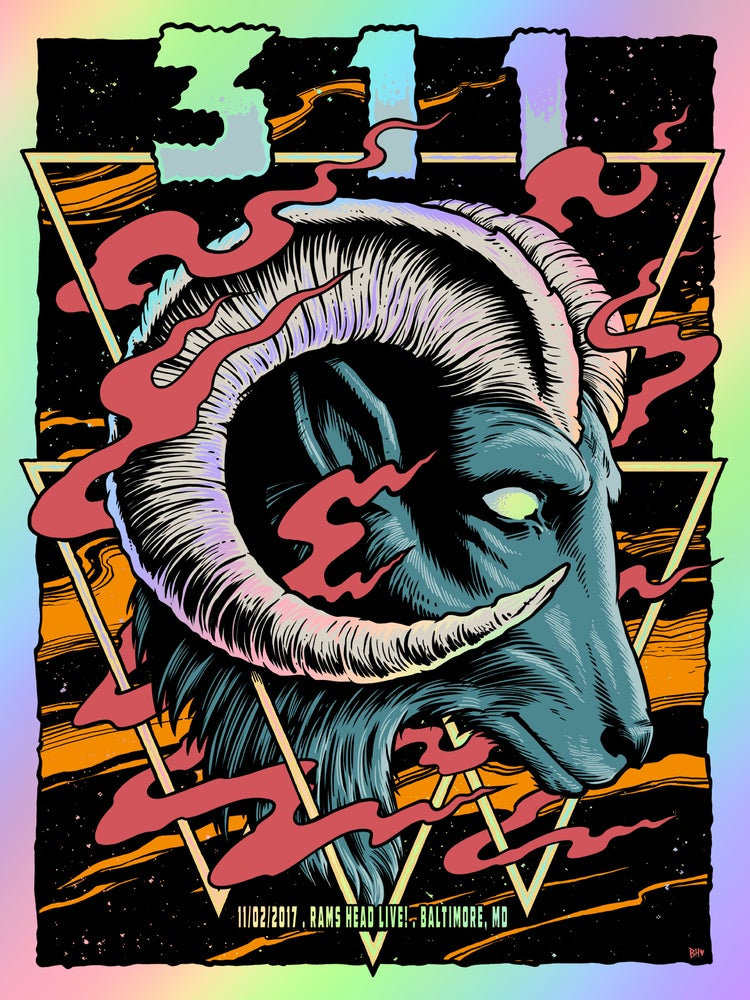 Image of 311 Baltimore, MD Rainbow Foil Poster