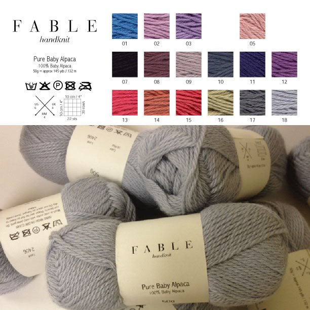 Image of Fable Handknit Pure Baby Alpaca Yarn