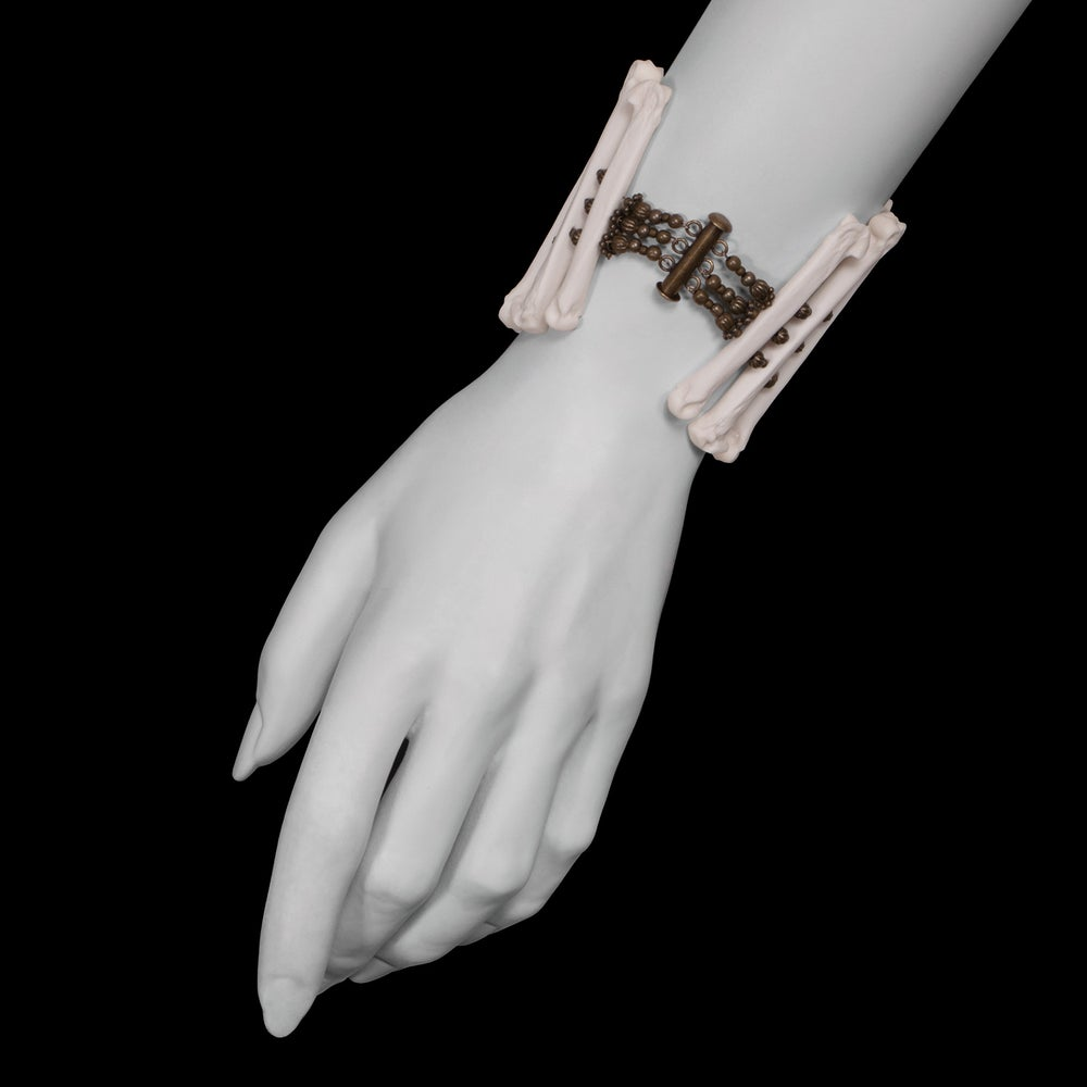 "Image of ""Voreias"" Coyote Foot Bone Bracelet"