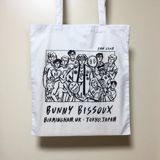 Image of BUNNY BISSOUX FAN CLUB - TOTE BAG - WHITE
