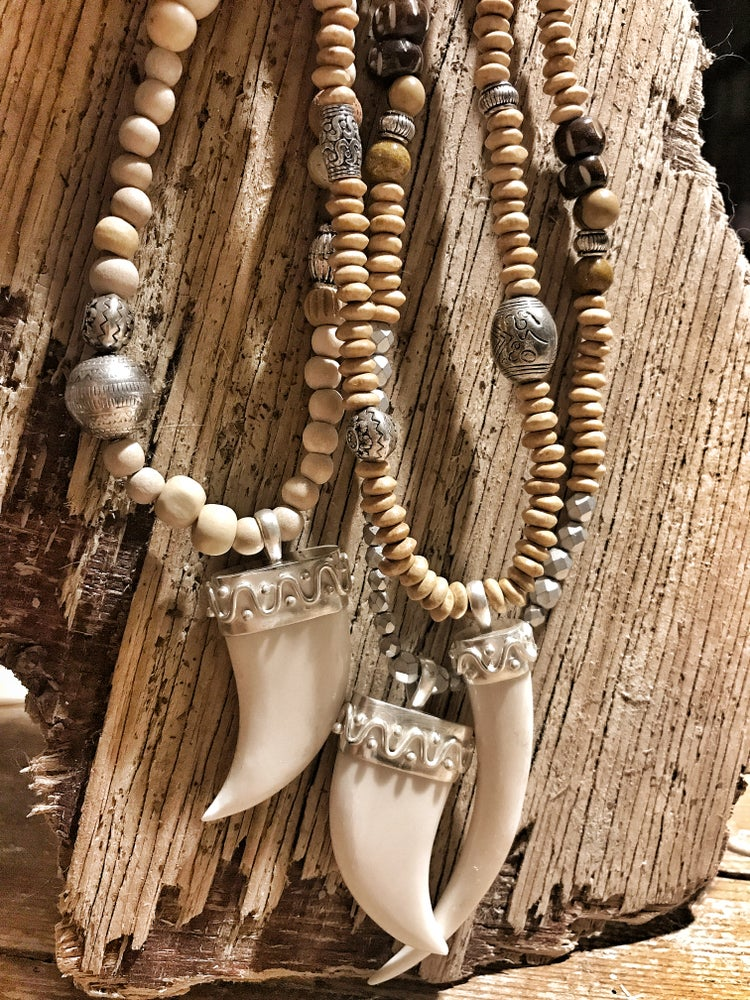 Image of Wood & Horn necklace