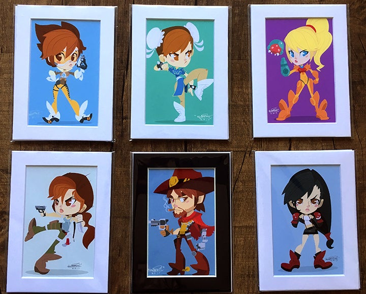 Image of 5x7 We Got Game Chibi Prints