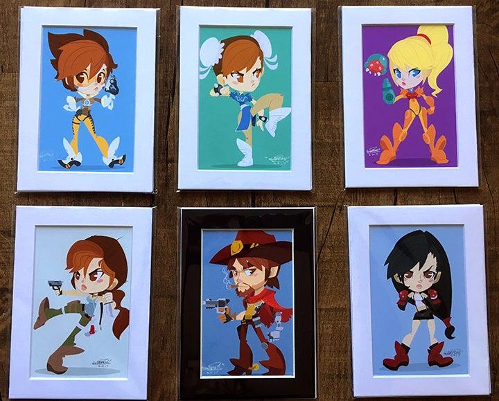 Image of 5x7 We Got Game Chibi Prints