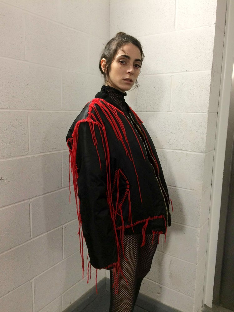 Image of ANTI MATERIALISM ANARCHY BOMBER JACKET