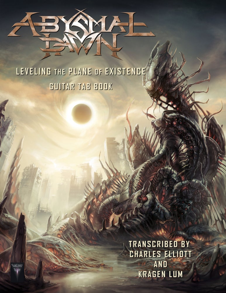 Image of Abysmal Dawn - Leveling The Plane Of Existence Guitar TAB Book (Print Edition)