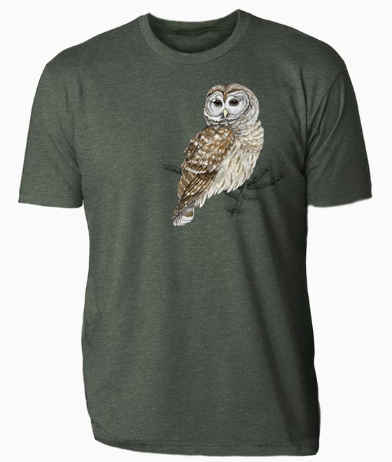Image of Center for Wildlife Barred Owl t-shirt