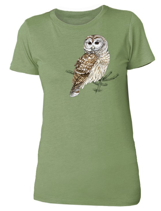 Image of Center for Wildlife Ladies Barred Owl shirt