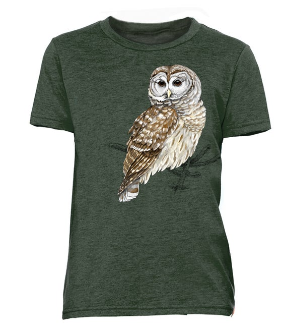 Image of Center for Wildlife Barred Owl Youth t-shirt
