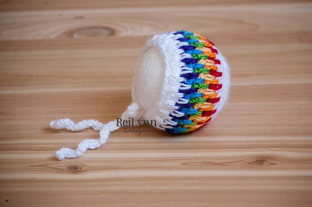 Image of Primary Rainbow Baby Bonnet