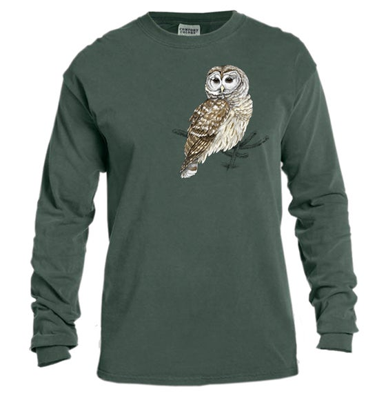 Image of Center for Wildlife Barred Owl Long Sleeve t-shirt