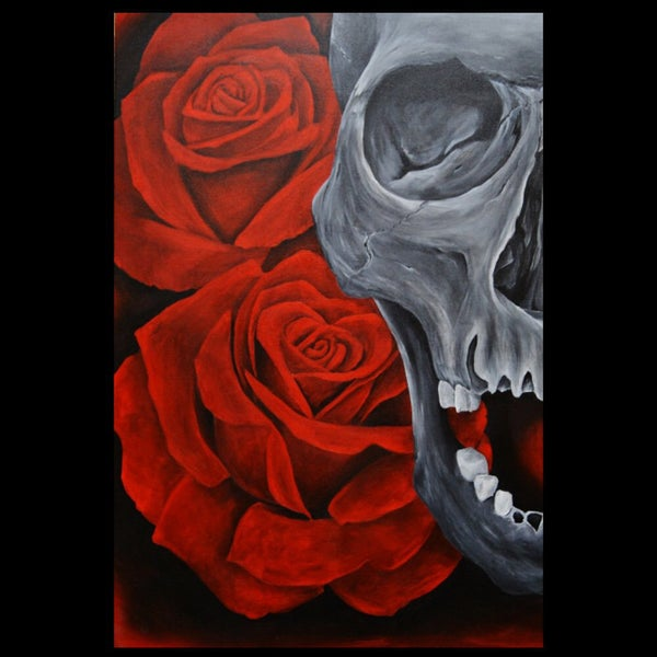 "Image of ""Skull & Roses"" Limited Edition Signed Print"