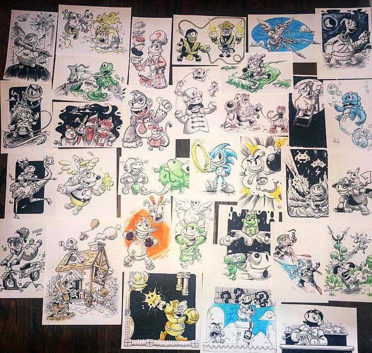 Image of Inktober drawings!