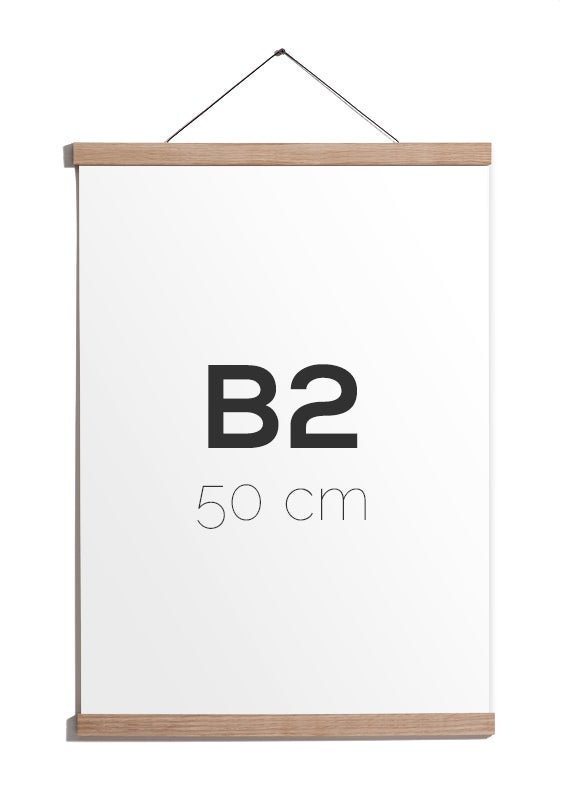 Image of Magnetic Oak Frame B2, 50 cm.