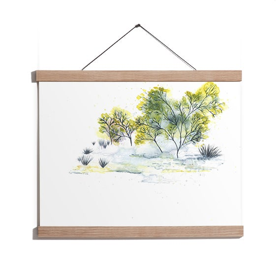 Image of Magnetic Oak Frame A4, 30 cm.