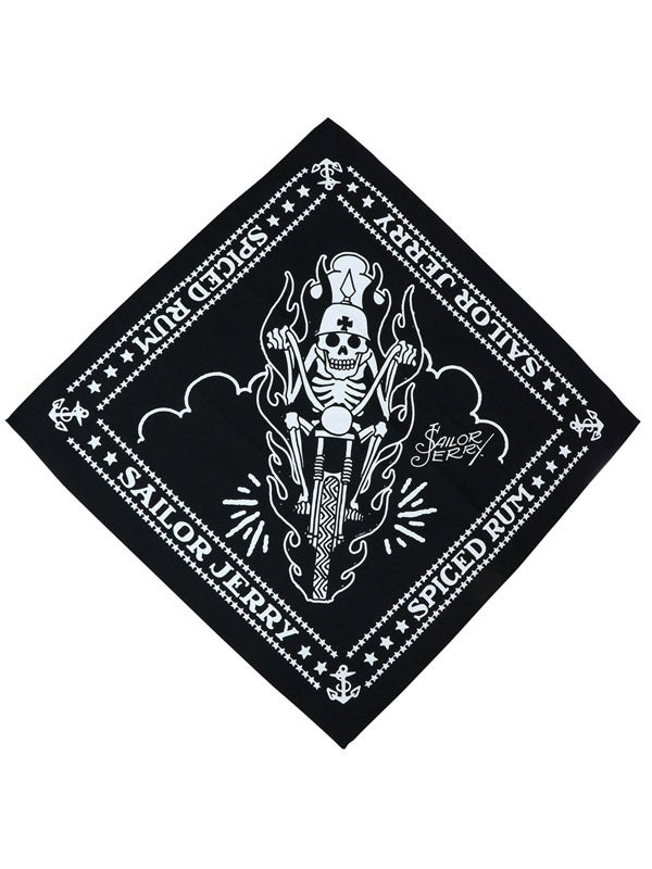 Image of Sailor Jerry Biker Bandana - Black