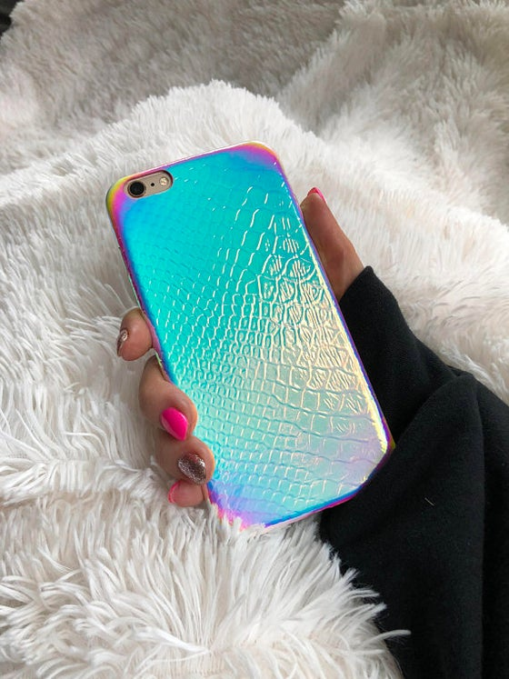 Image of Iridescent Holographic Mermaid Unicorn iPhone Case Iridescent Holographic Mermaid Unicorn iPhone Cas
