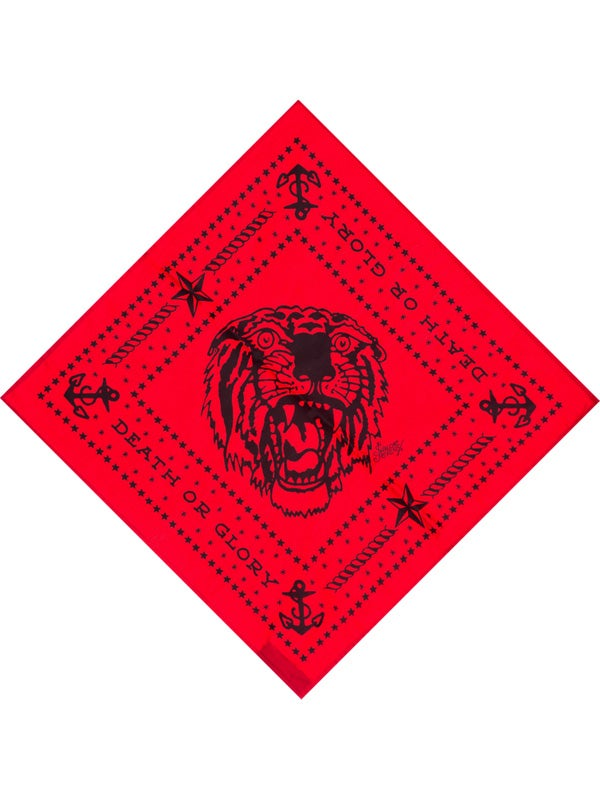 Image of Sailor Jerry Bandana - Tiger Red