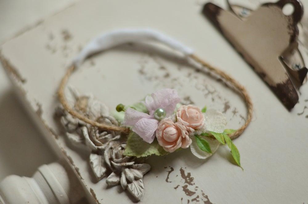 Image of Secret garden pillow/headband set (pink)
