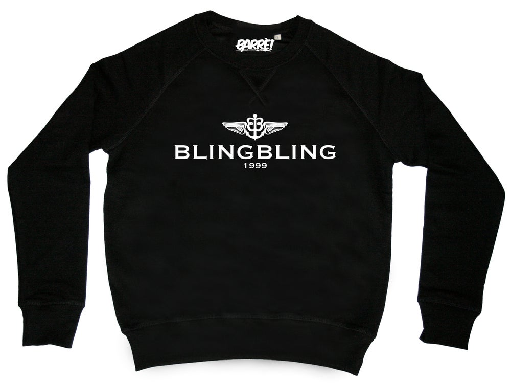 "Image of Crewneck ""BLIN BLING"" blk"