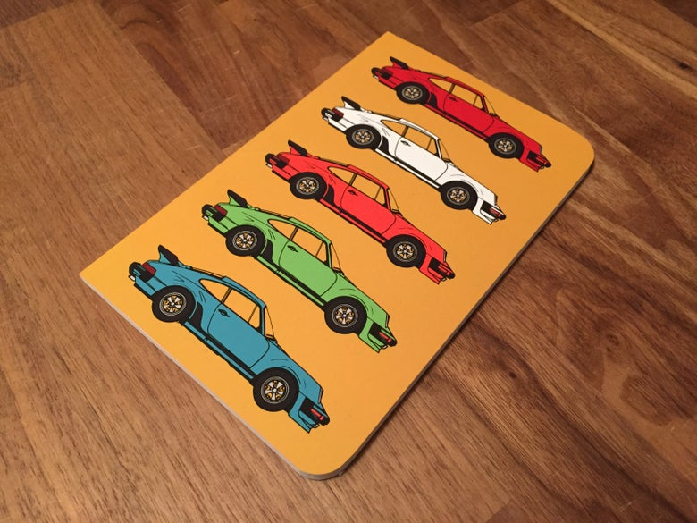 Image of Porsche Pop Art Notebook - Mustard Yellow