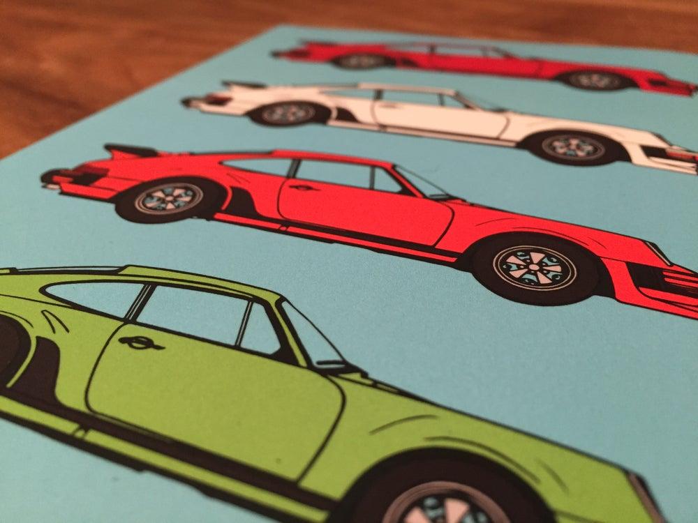 Image of Porsche Pop Art Notebook Sky Blue