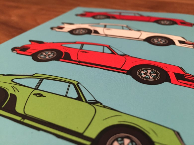 Image of Porsche Pop Art Notebook Sky Blue