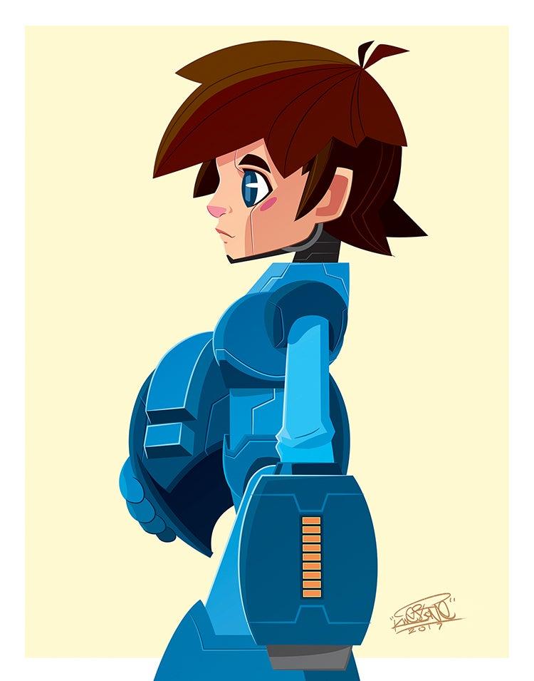 Image of Mega Man 11x14 Print