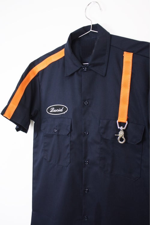Image of 3M STRAP BUTTON UP SHIRT - LAVA / NAVY