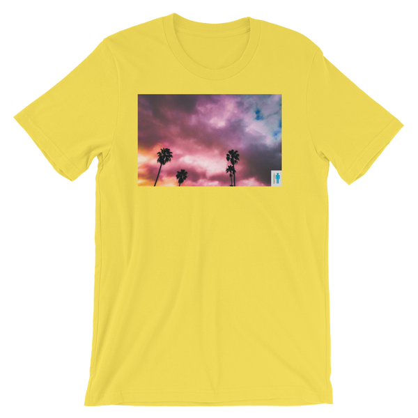 """Image of """"Palms and Perp"""" Limited T-Shirt. (Yellow)"""