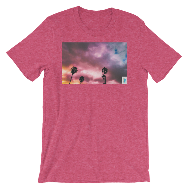 """Image of """"Palms and Perp"""" Limited T-Shirt. (Rasberry)"""