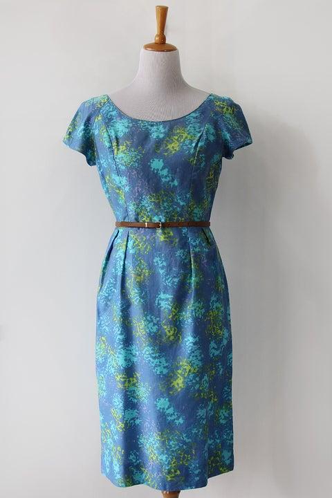 Image of SOLD Hawaiian Watercolour Wiggle Dress