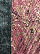 Image of Pattern #7 'Double Marble' Spanish Ripple' in Plum